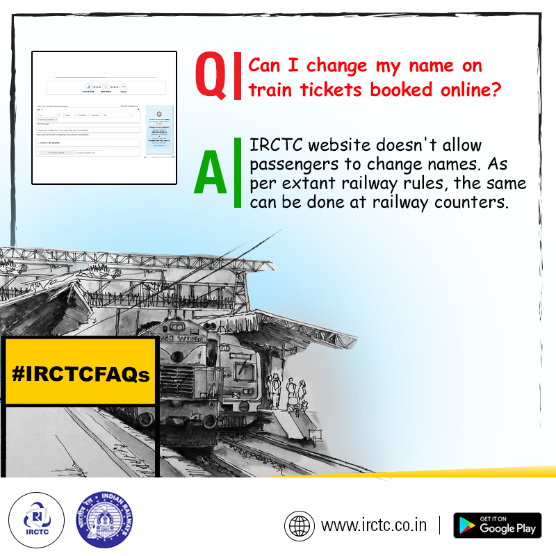 Have You Booked Your Train Tickets Online But Missed Out On Correct Names To Make The Correction Visit Near Train Ticket Booking Train Tickets Online Tickets