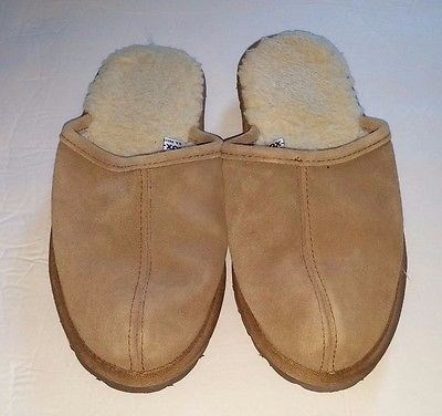 11.84$  Watch here - http://vieyx.justgood.pw/vig/item.php?t=8rwk7fx40943 - SOX-TAB Suede Leather Upper Clog Mule Slipper Faux Fur Lining Women's Size 4/5