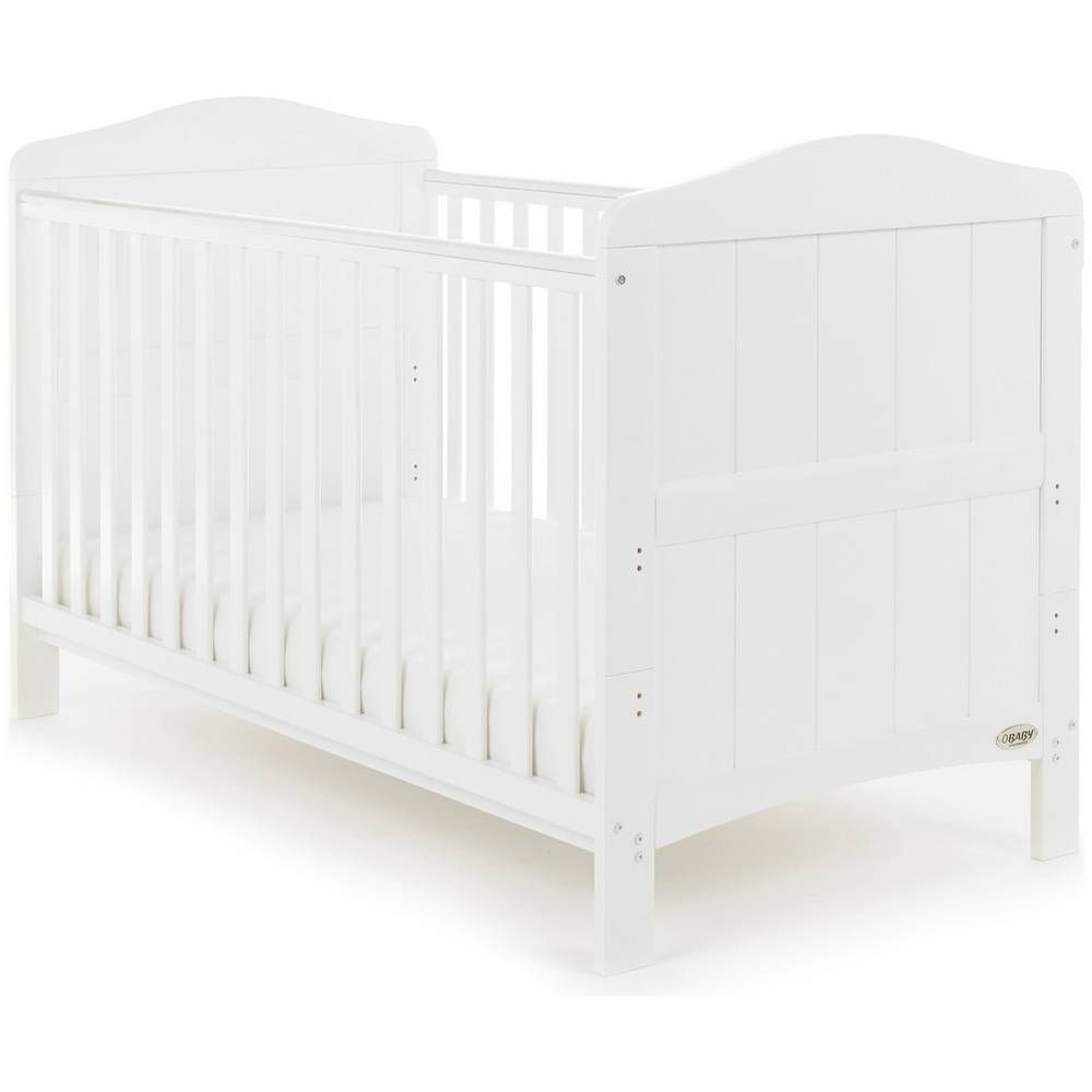 Buy Obaby Whitby Cot Bed White Cots And Cot Beds White