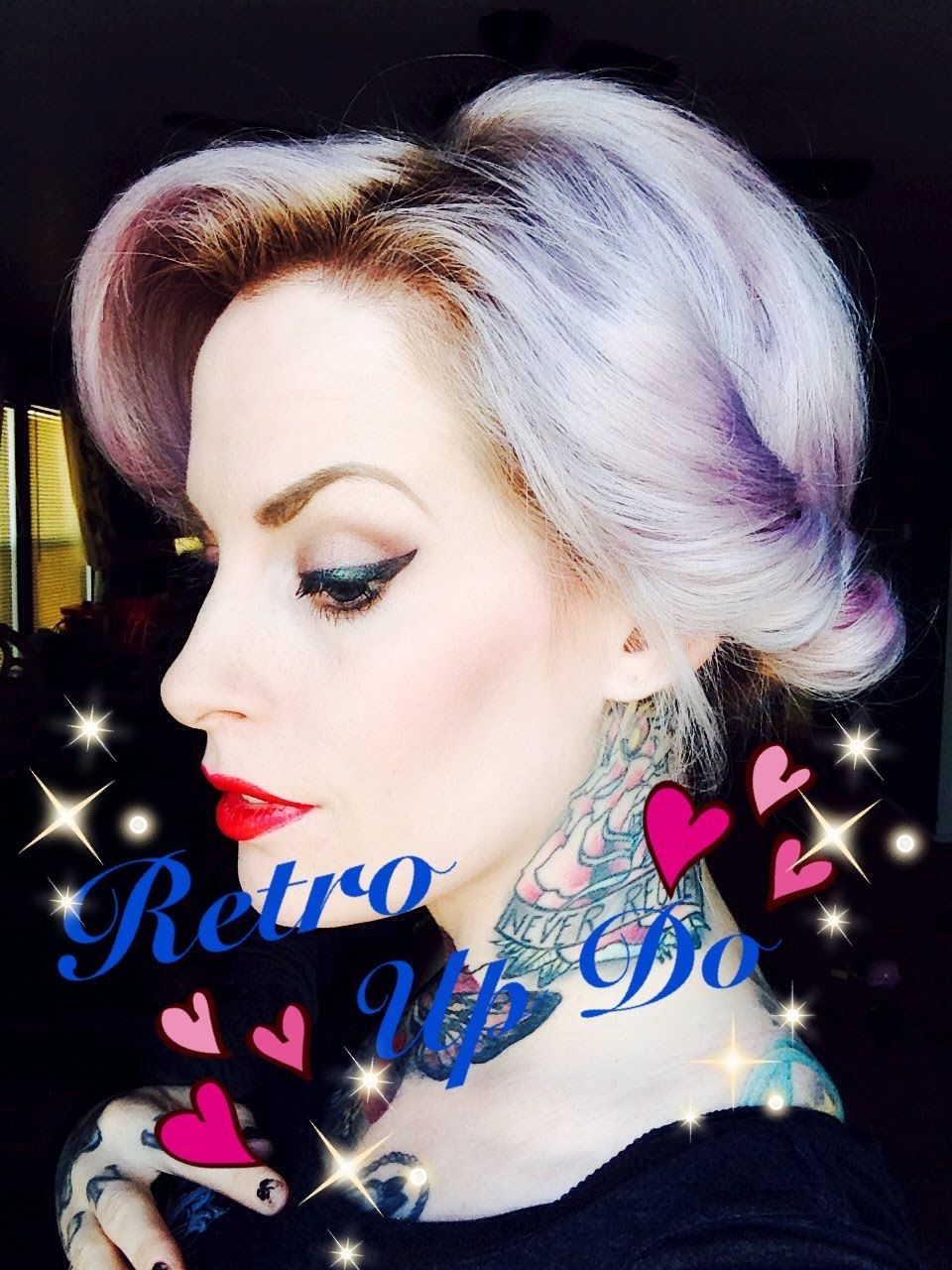Really easy retro up style for short hair by kandy k hair