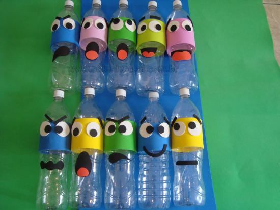 Aparador Ingles Significado ~ 17 Jeitos Divertidos de Reciclar Garrafa Pet Reciclando garrafa pet, Atividades para educaç u00e3o