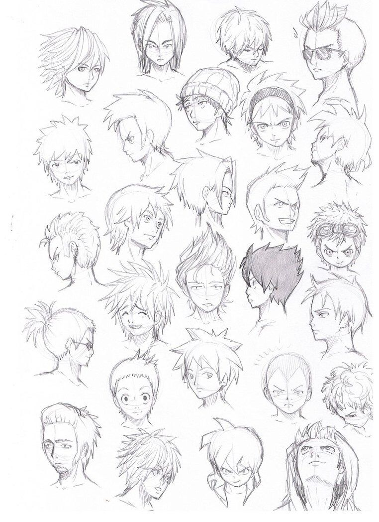 Pin By Muraad Sarselmaz On Drawing Ideas Anime Boy Hair Anime Drawings Manga Drawing