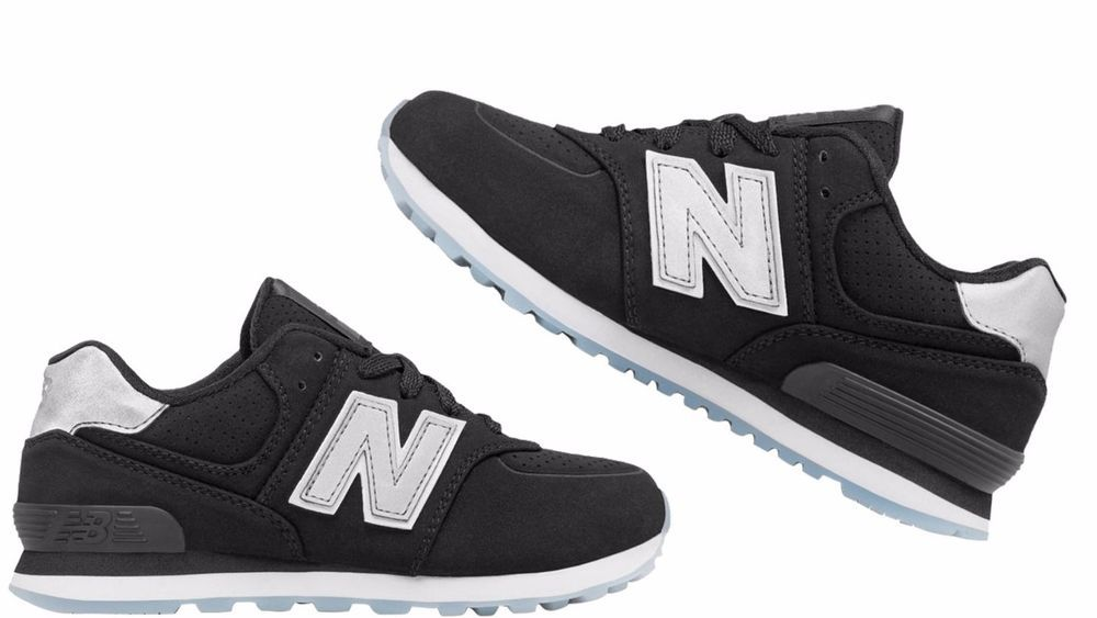 2260ee75a6 Kids (GS) NEW BALANCE 574 KL574YKG BLACK/GREY sneakers #NewBalance ...
