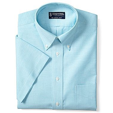 Stafford 174 Essentials Short Sleeve Oxford Shirt Jcpenney