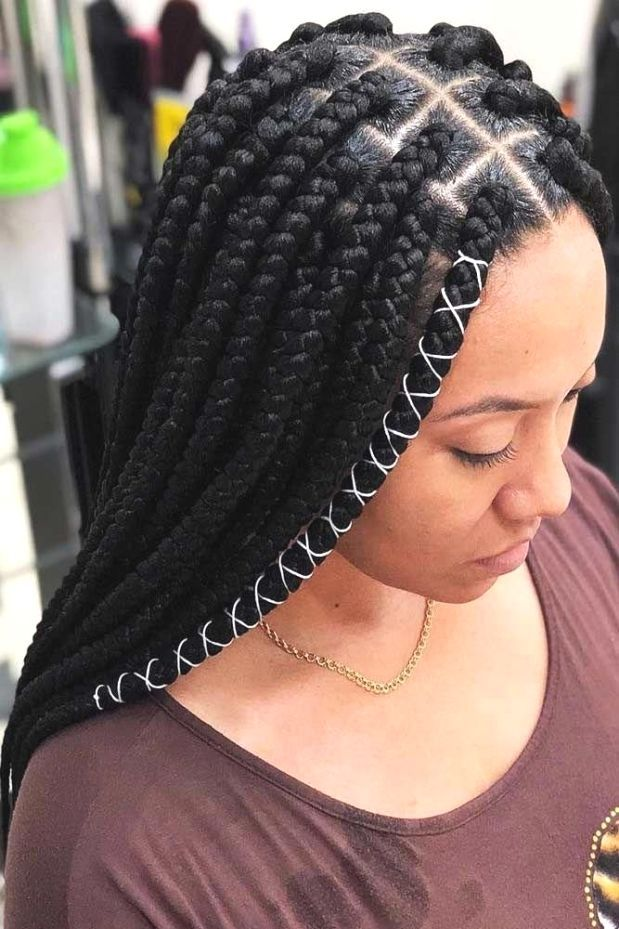 Faux Lock With Curls # fulani Braids with curls 100 African Braids Hairstyle Pictures to Inspire You # fulani Braids inspiration