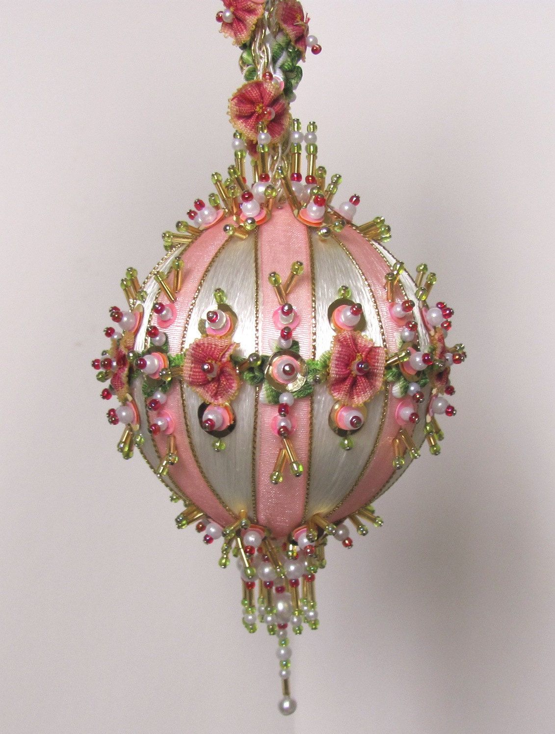 Beaded Christmas Ornament Kit Antoinette Ii By Glimmertree On Etsy 32 7 Victorian Christmas Ornaments Beaded Christmas Ornaments Handmade Christmas Ornaments
