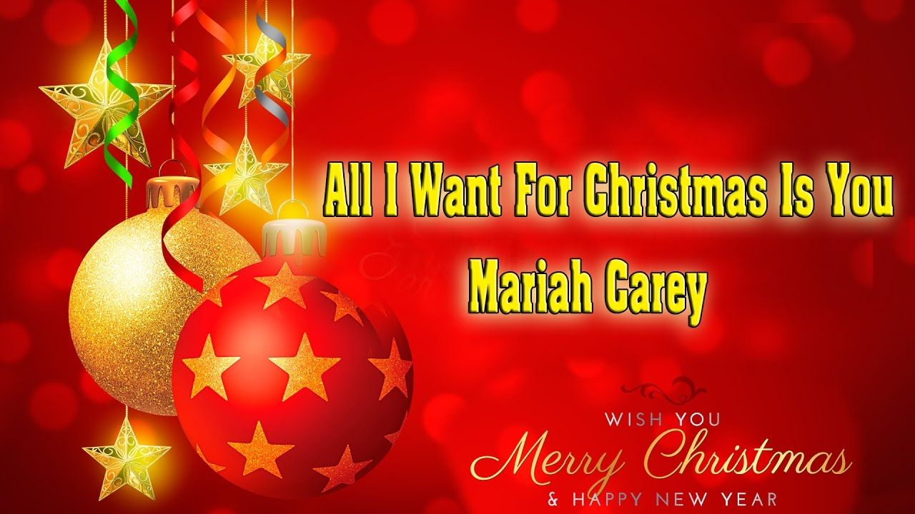 Mariah Carey All I Want For Christmas Is You Karaoke Hd Noel Giang Sinh Lễ Giang Sinh