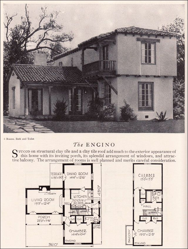 Encino House Plan Eclectic Monterey Spanish Revival Style American Residential Architecture Colonial House Plans Spanish Style Homes Vintage House Plans