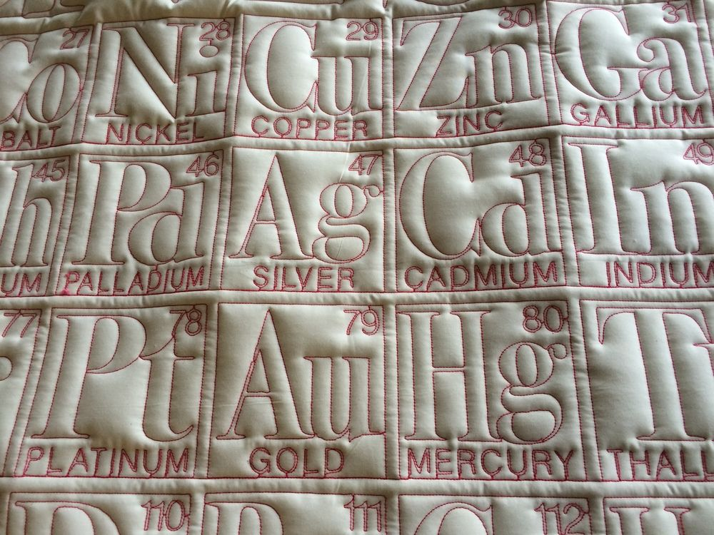 Periodic Table Quilts Cells Pinterest Quilts Quilting Designs