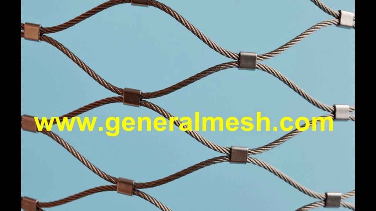 Generalmesh xtend 316 rope mesh for architectural plant