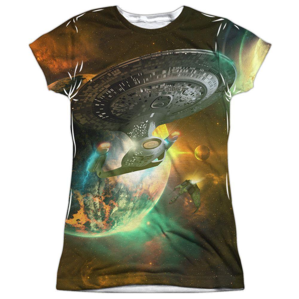 Star Trek: The Next Generation: Battle Ships Sublimated Junior T-Shirt