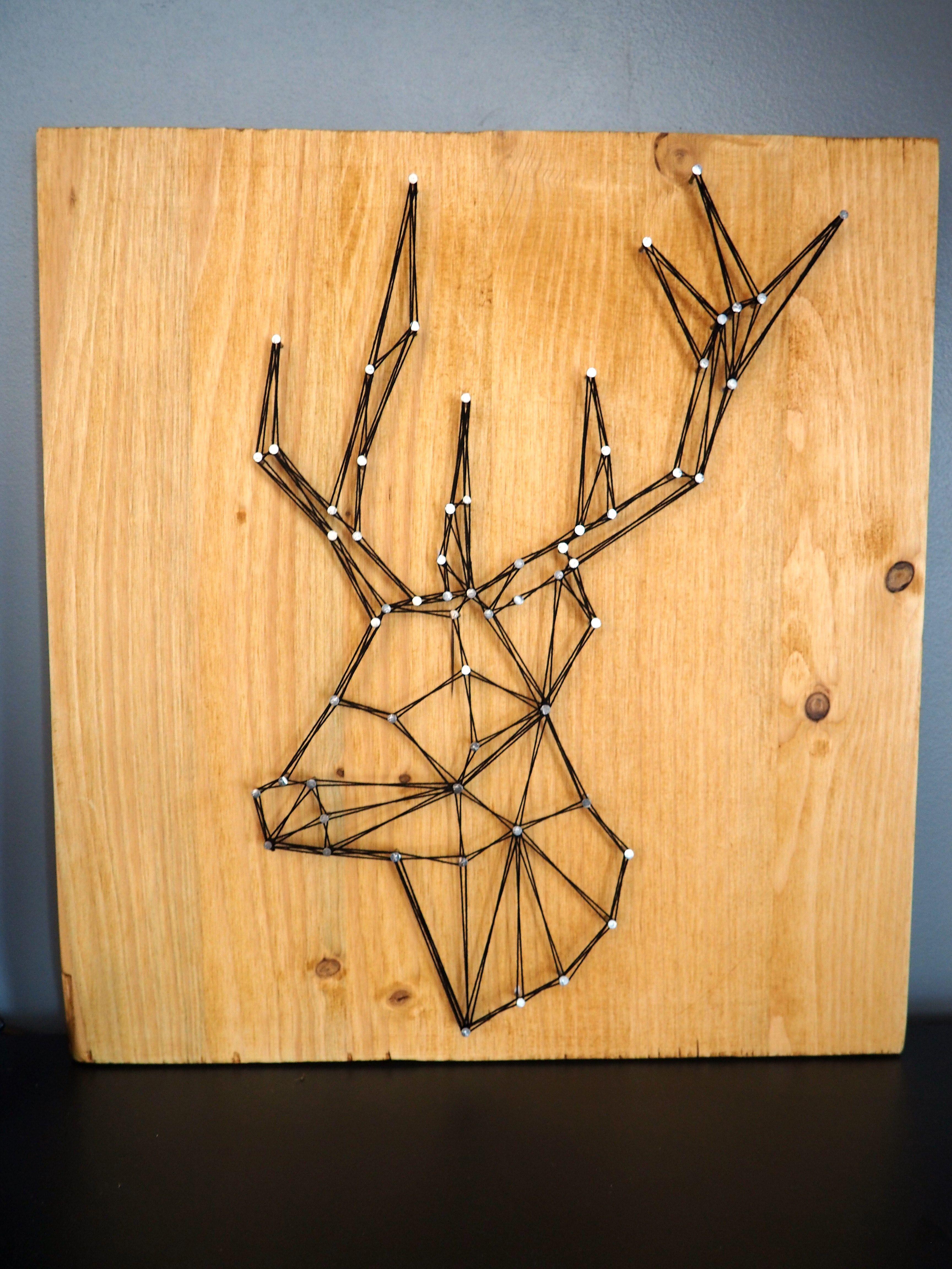 Tête de cerf en string art géométrique | ideas | Pinterest | String ...