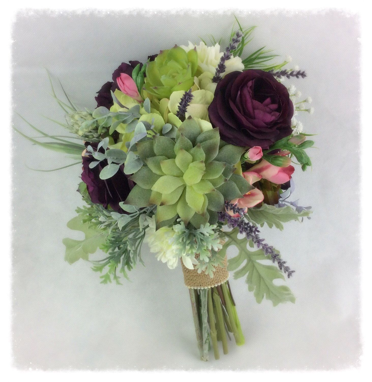 Wedding Bouquet, Bridal Bouquet, Succulent Bouquet, Artificial ...