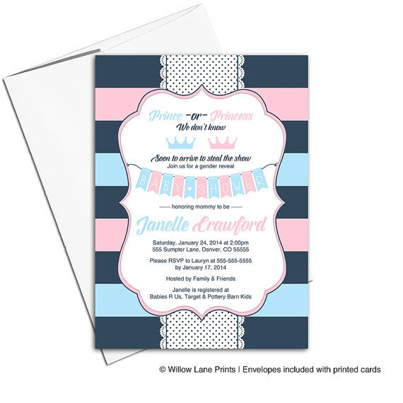 gender reveal party ideas gender reveal invitations prince or