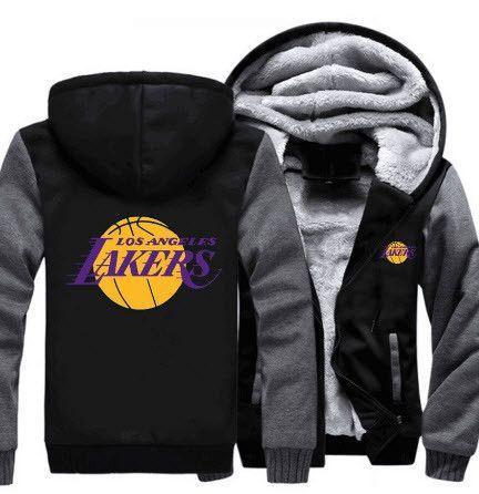 Nba Los Angeles Lakers Thick Fleece Jacket Hoodies Mens Sweatshirts Hoodie Sweatshirts Hoodie