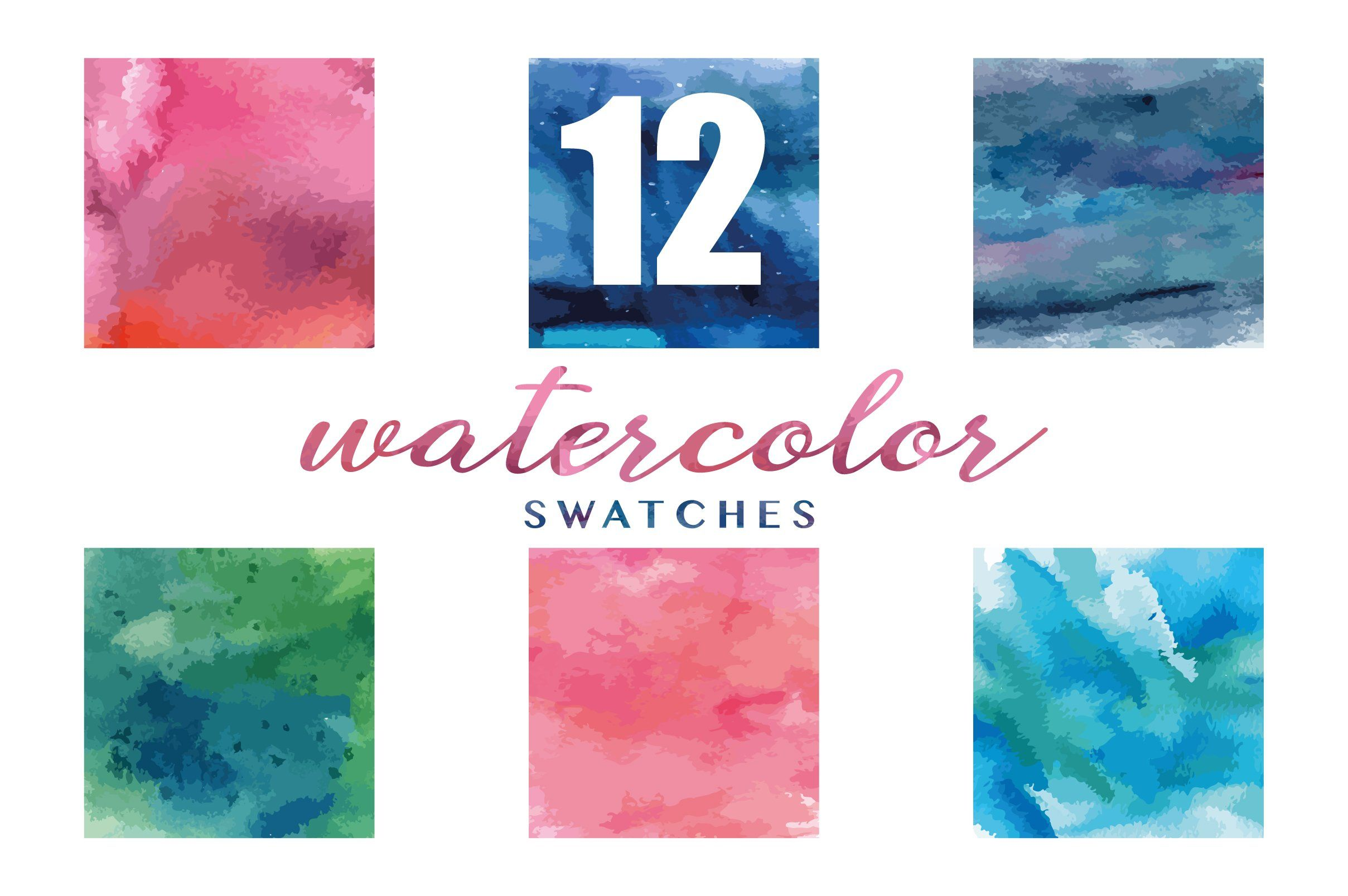 12 Watercolor Textures Ad Rgb Bundle Huge Mode Ad