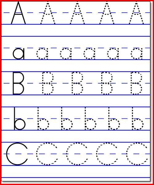 Collection Kindergarten Abc Worksheets Pictures - Worksheet for ...
