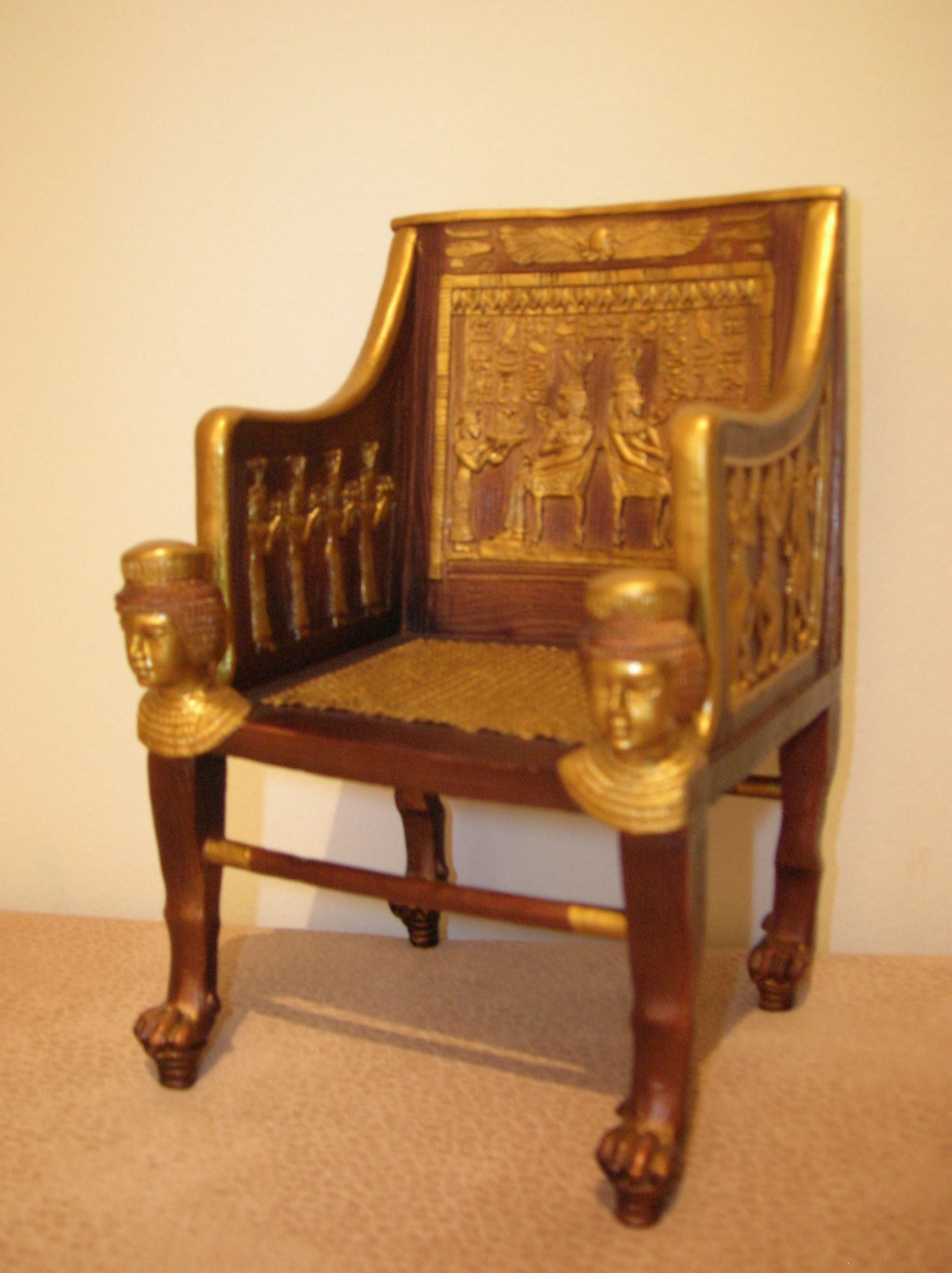 Princess Sitamun\'s chair from Ancient Egyptian. It is mad from ...