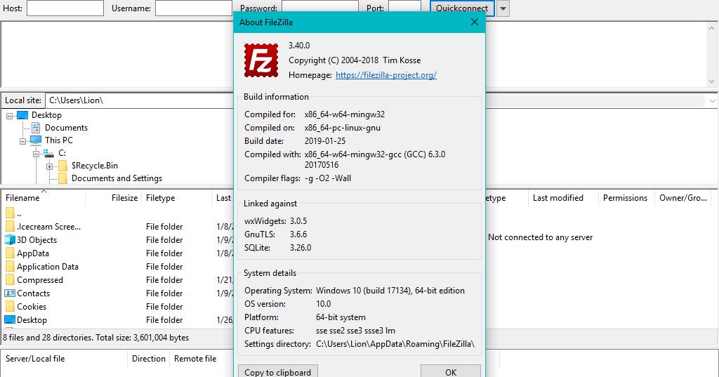 برنامج فايلزيلا FileZilla هو تطبيق مجاني لنقل جميع أنواع