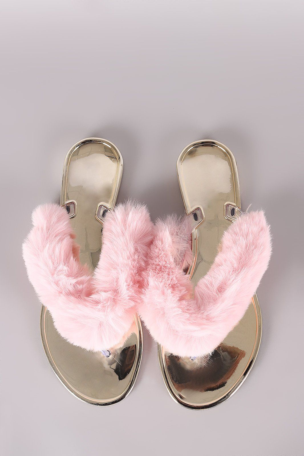 b7ddfff3fb6 We Just Lov Fuzzy Furry FlipFlops Sandals Get m B4 They er Gone ADD TO BAG  BOW‼ Bamboo Faux Fur Thong Jelly Sandal - Shoes