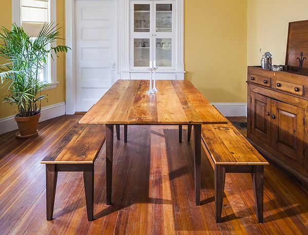 A Collection Of Hepplewhite Legs Two Side Tapered In Dining Table Height Bench