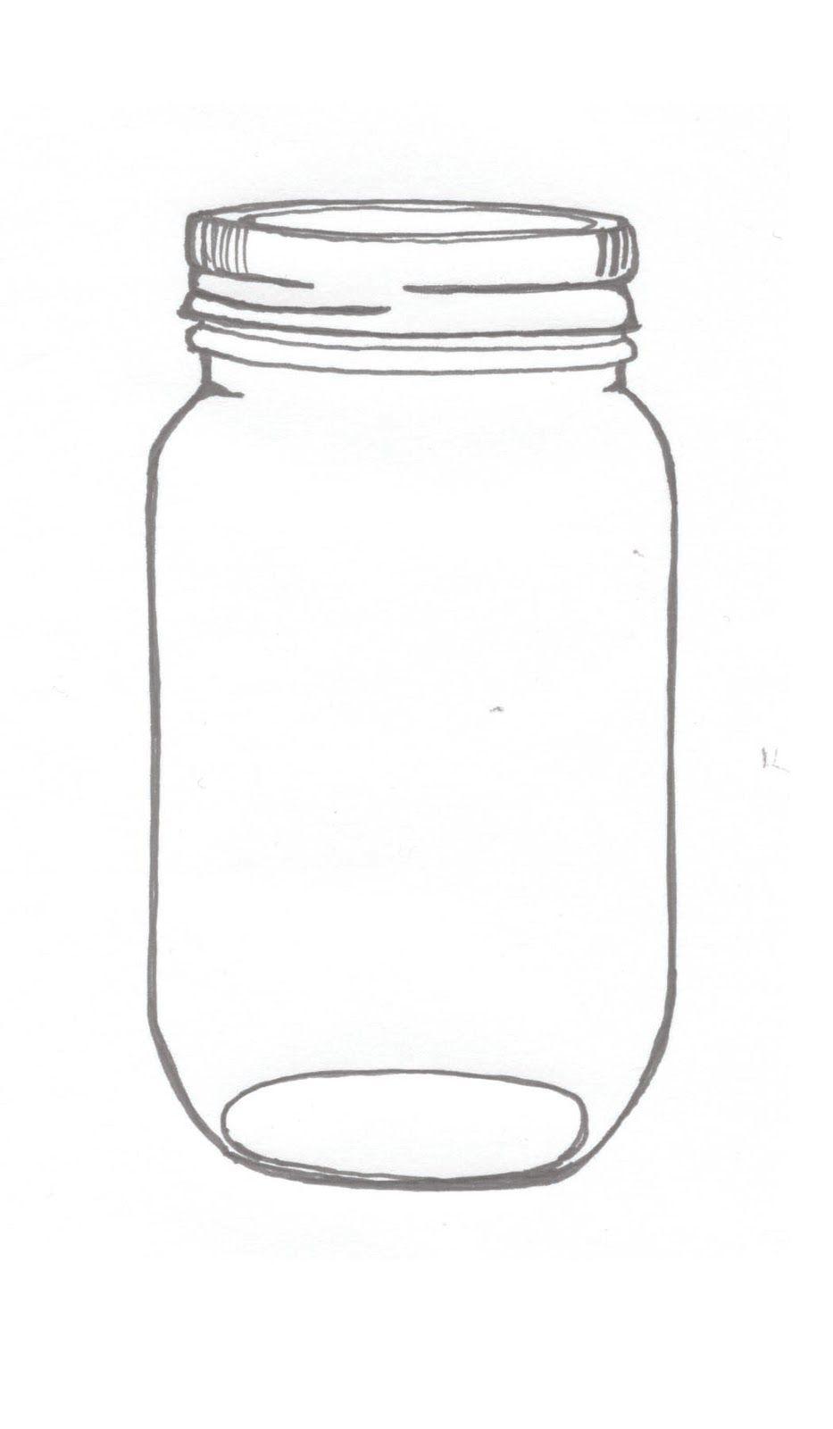 Mason Jar Illustrations An Ink Drawing Of A Mason Jar Related ...