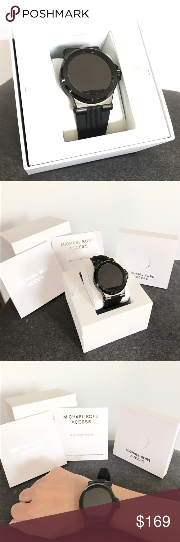 99f44734c39a New Open Box MK unisex Dylan smartwatch Technology meets jet-set style with  the men s Michael Kors Access Dylan rose gold-tone display smartwatch.