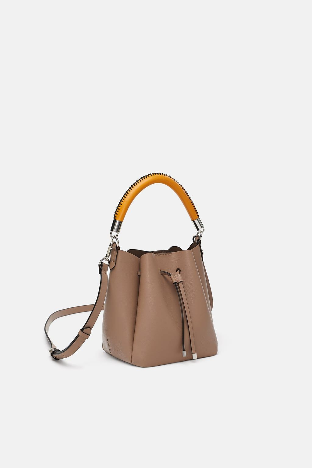 b67705c86e Image 1 of MINI BUCKET BAG WITH TOPSTITCHED HANDLE from Zara ...