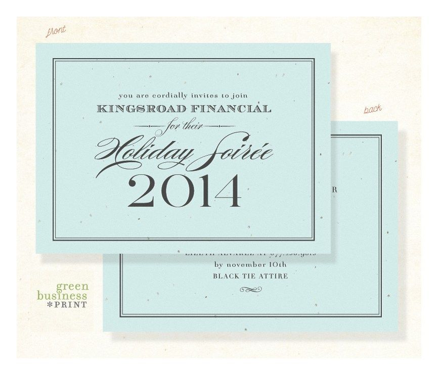 Holiday Party Invitations ~ Formal Financial *plantable Gala - formal business invitation