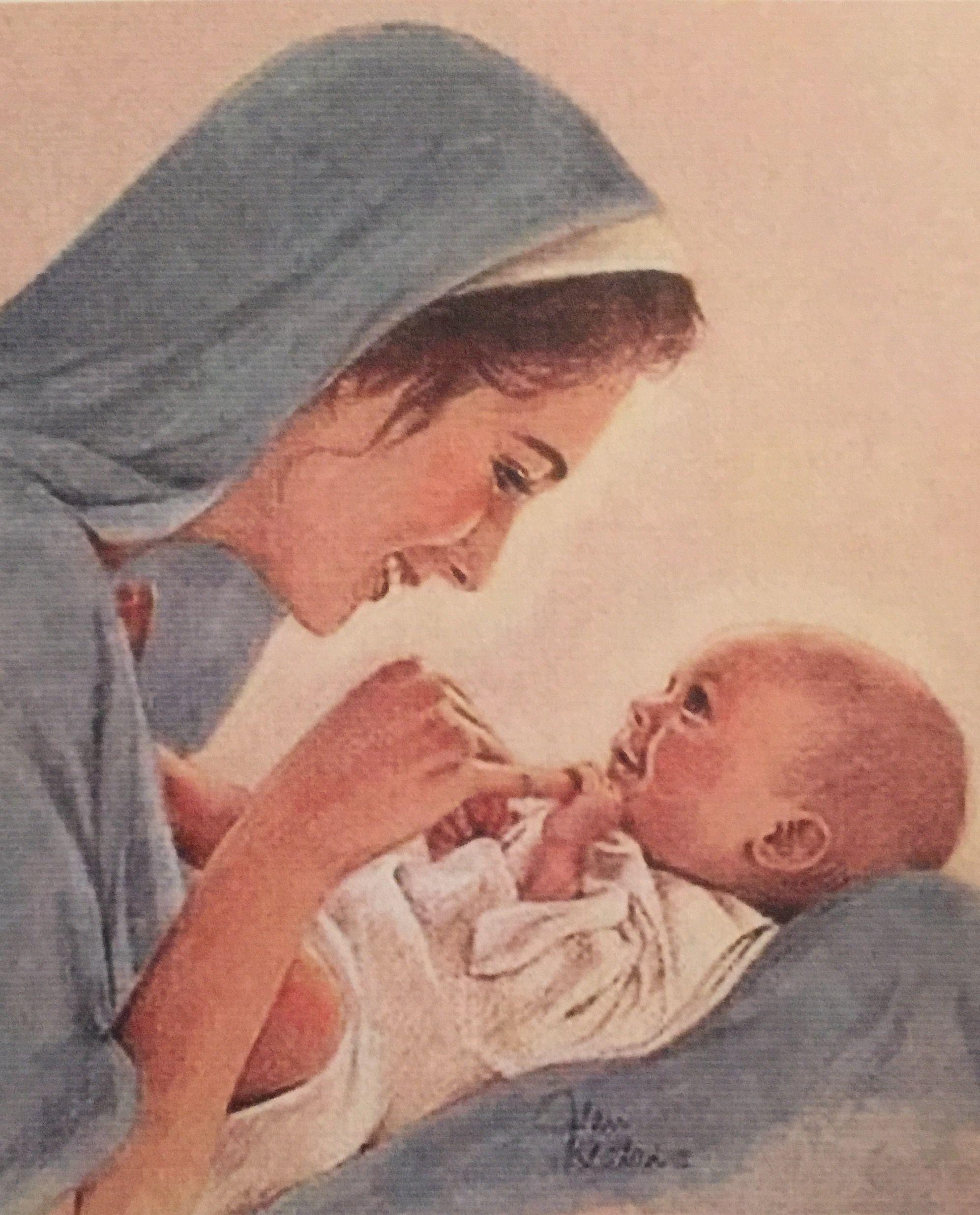 LA VIRGEN MARÍA CON JESÚS TERNURA Y FELICIDAD DE MADRE E ...