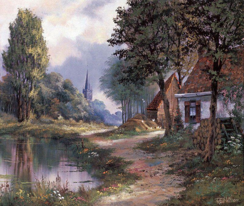 Reint Withaar Sanatsal Resimler Yağlı Boya Manzara Resimleri