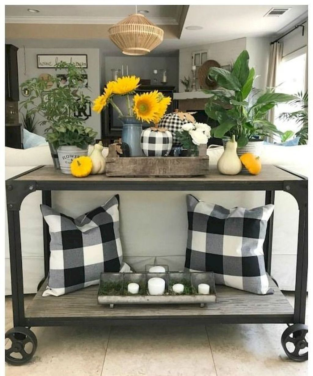 Front Entryway Decorating Ideas The Design Twins: 40 Fascinating Farmhouse Summer Decor Ideas For