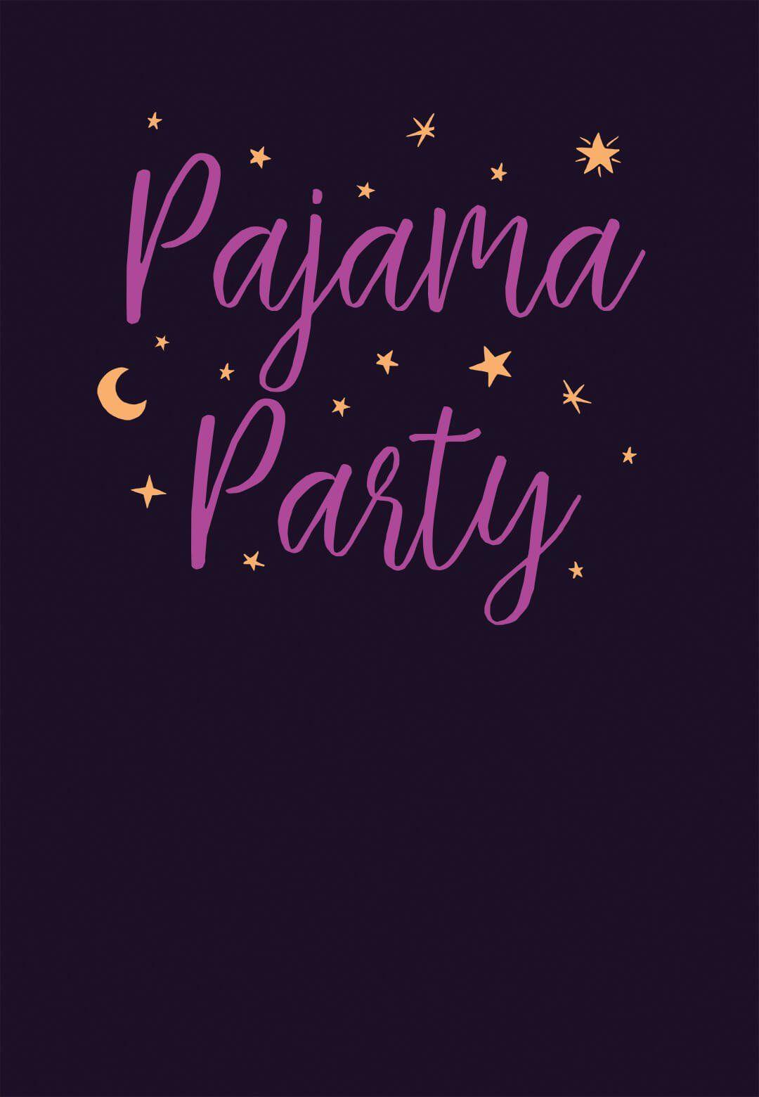 Pajama Party - Free Printable Sleepover Party Invitation Template ...