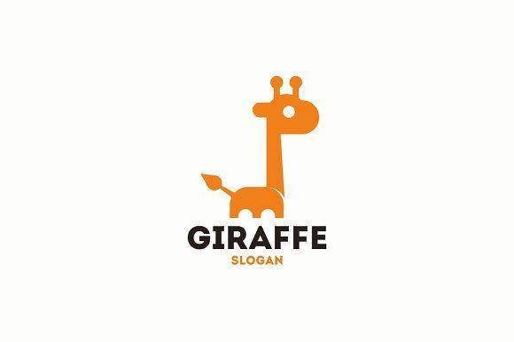 Giraffe Logo Template Creativework247 Logo Branding Branding
