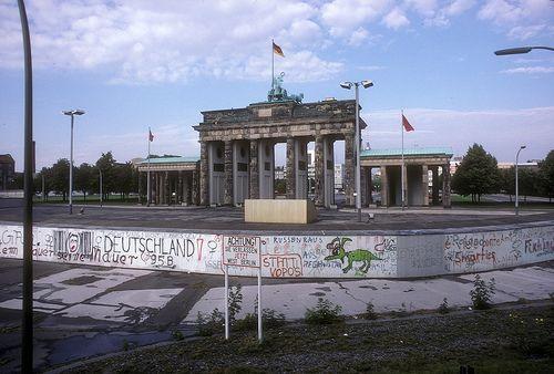 Berlin 1987 Mur De Berlin Allemagne Berlin