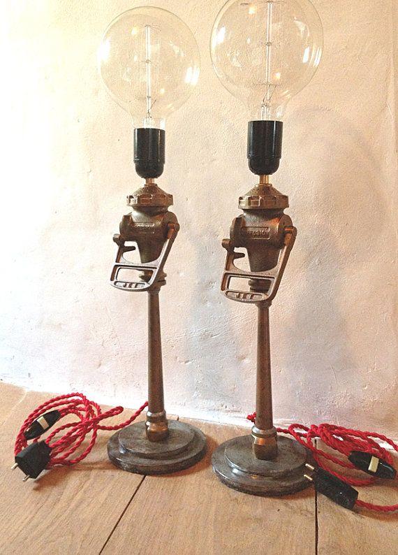 Lampe Lance A Incendie Vintage Par Frenchbricabroc Sur Etsy Bar