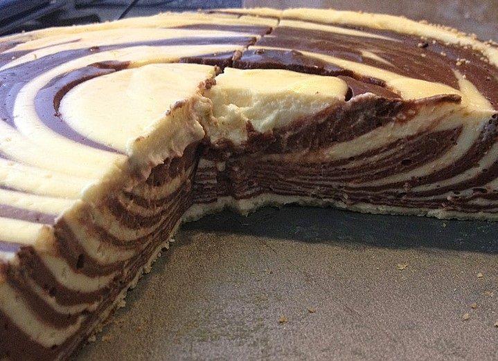 Low Carb Rezepte Zebra Kasekuchen Ohne Boden Kuchen Und Torten