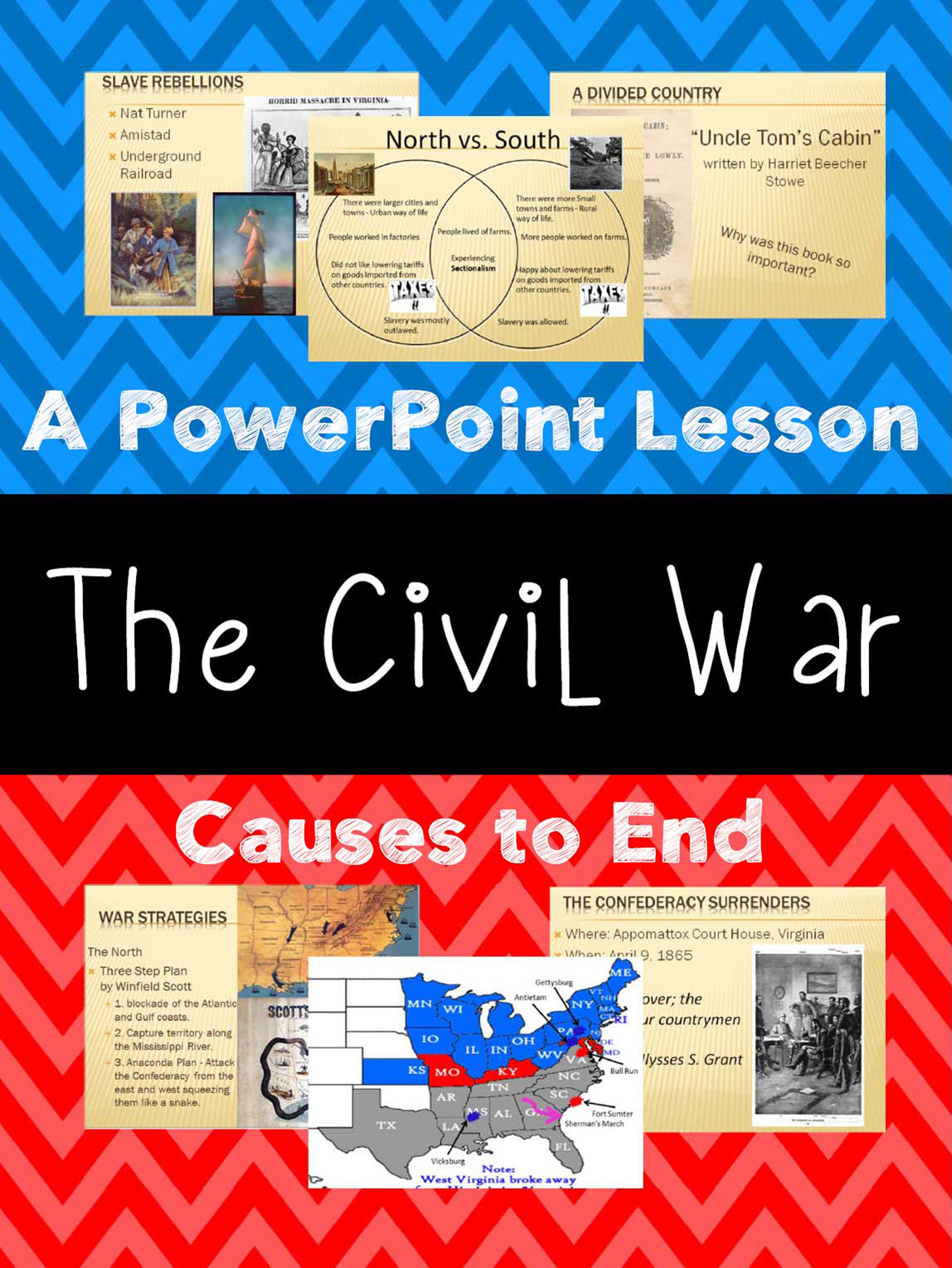 Civil War Unit Powerpoint Presentation Covers Causes Of
