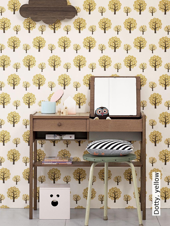 dotty yellow wohnen talentierte tapeten kinderzimmer kinder zimmer und kinder tapete. Black Bedroom Furniture Sets. Home Design Ideas