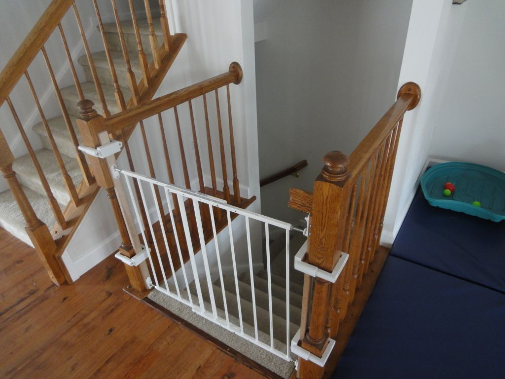 Charming Safety Baby And Childern Gate For Stairs Using