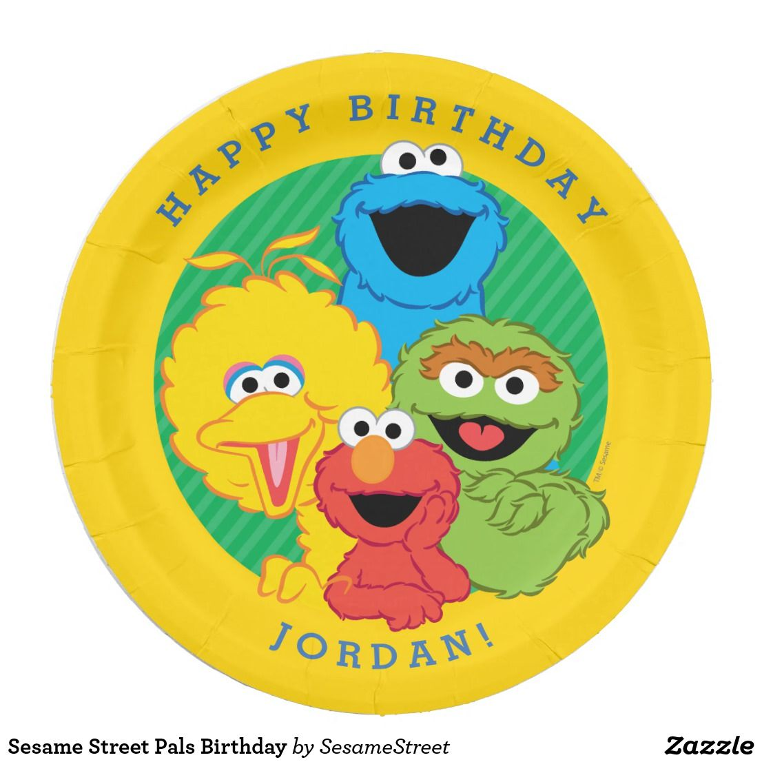 Sesame Street Pals Birthday Paper Plate  sc 1 st  Pinterest & Sesame Street Pals Birthday Paper Plate | Sesame streets