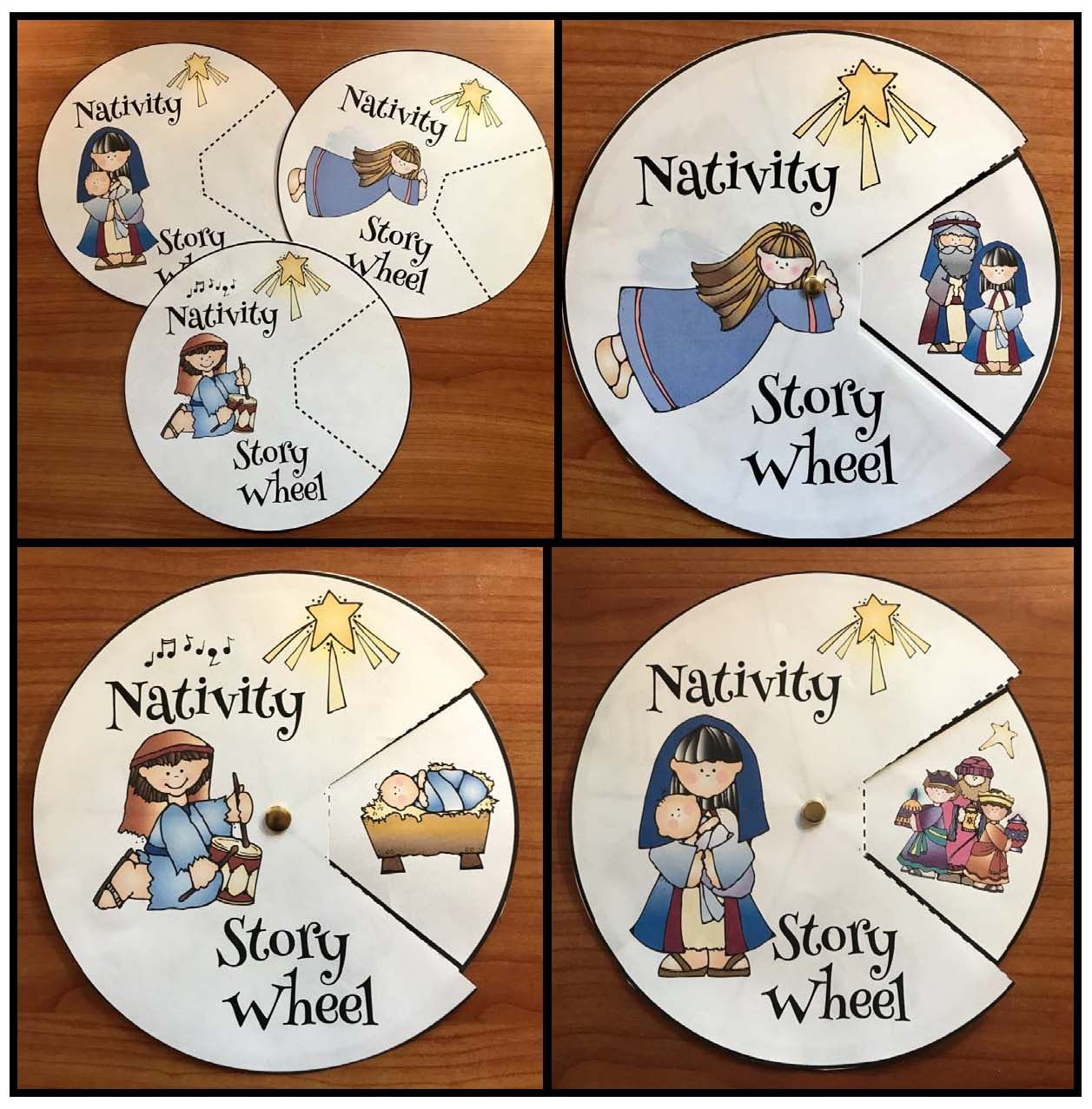 Nativity Craft Sequencing & Retelling the Story