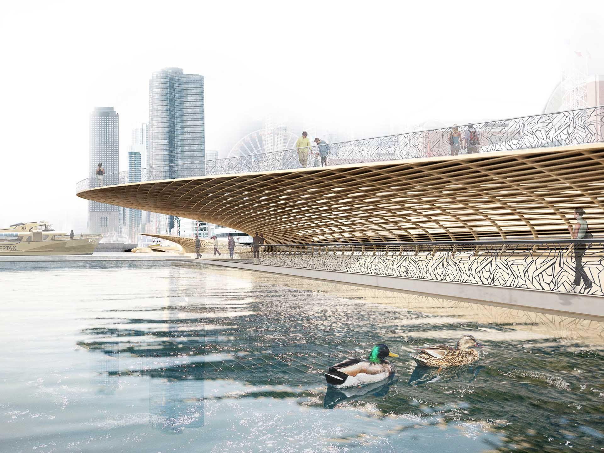 Chicago navy pier pier design waterfront design for Best landscape architects
