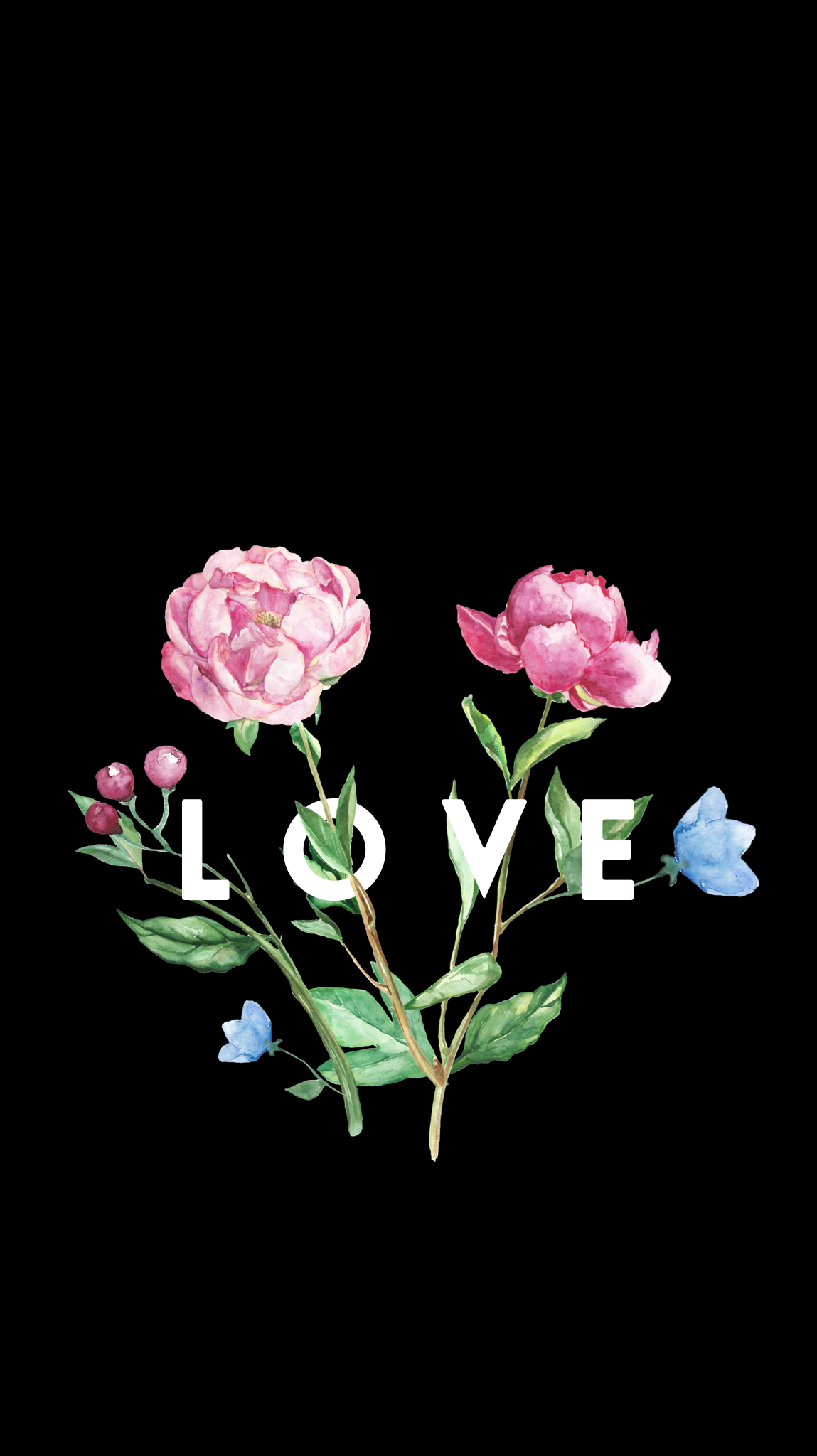 Love In Bloomwallpaper love floral print deco