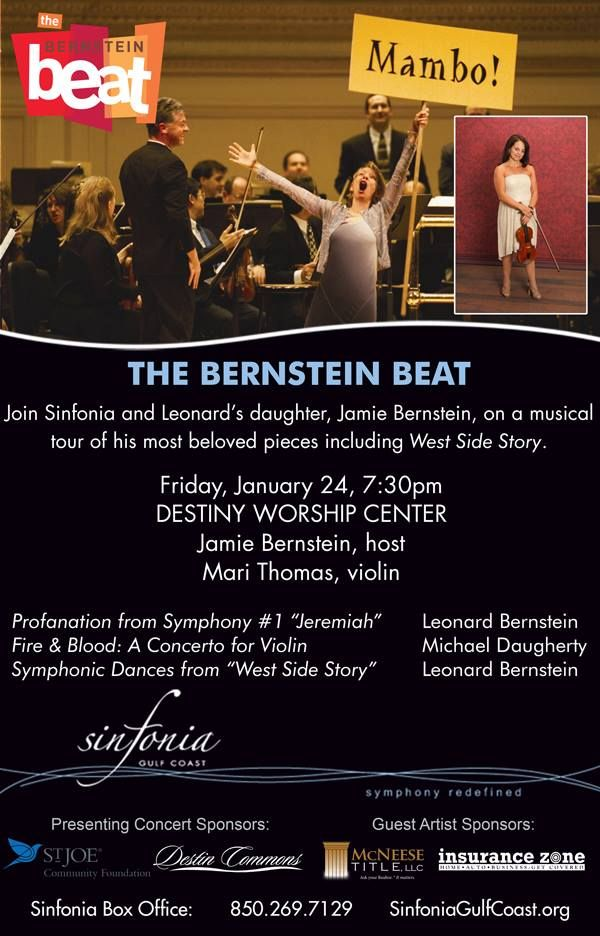 Sinfonia Gulf Coast Will Present The Bernstein Beat On Friday