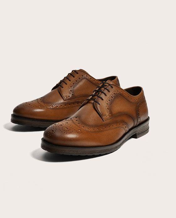 a89942d847 ZAPATO PIEL PICADOS in 2019 | sapatos | Zara homem, Sapatos, Zara