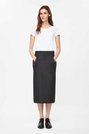 Technical pencil skirt