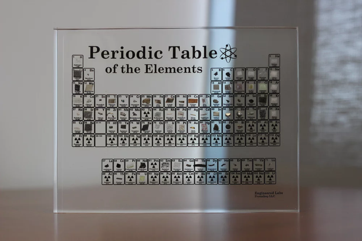 Ethereal Periodic Table Display With Real Elements Umbaga Labs Periodic Table Of The Elements Periodic Table Table Display