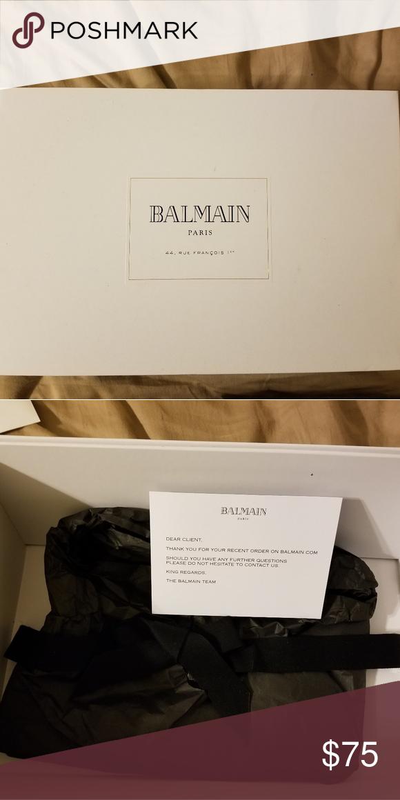Empty Balmain Paris Giftbox Balmain Paris Balmain Paris