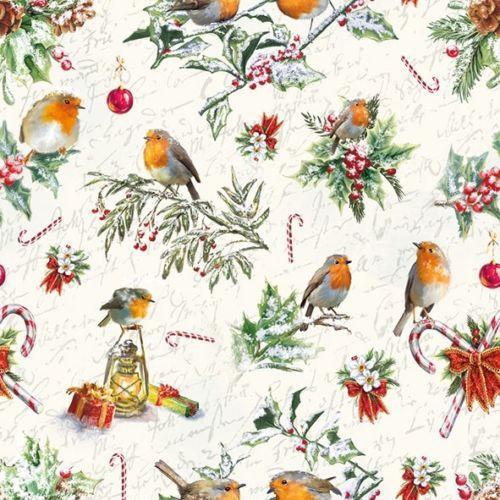 for Decoupage Christmas Mix 1//2 25cm x 25cm 6 Different Cocktail Paper Napkins
